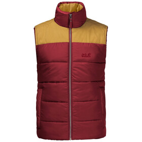 Jack Wolfskin Lakota Vest Heren, dark lacquer red
